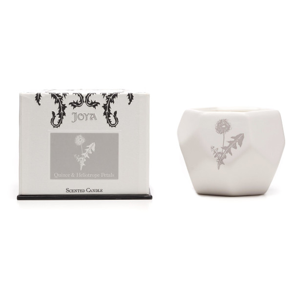 Joya Quince & Heliotrope Petals, Soy+Beeswax Blend Candle