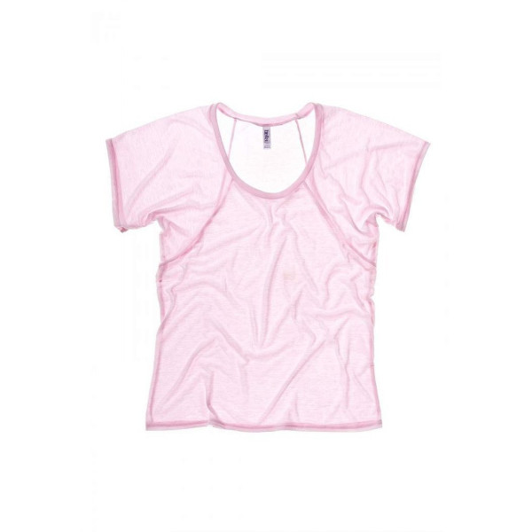Bella Ladies 3.7 oz. Flowy Raglan T-Shirt - SOFT PINK - LARGE