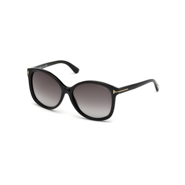 Tom Ford Black 01F Alicia Round Sunglasses Lens Category 2