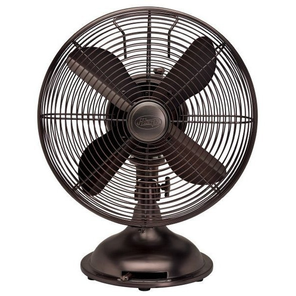 "Hunter 12"" Oscillating Desk Fan, Oil Rubbed Bronze"