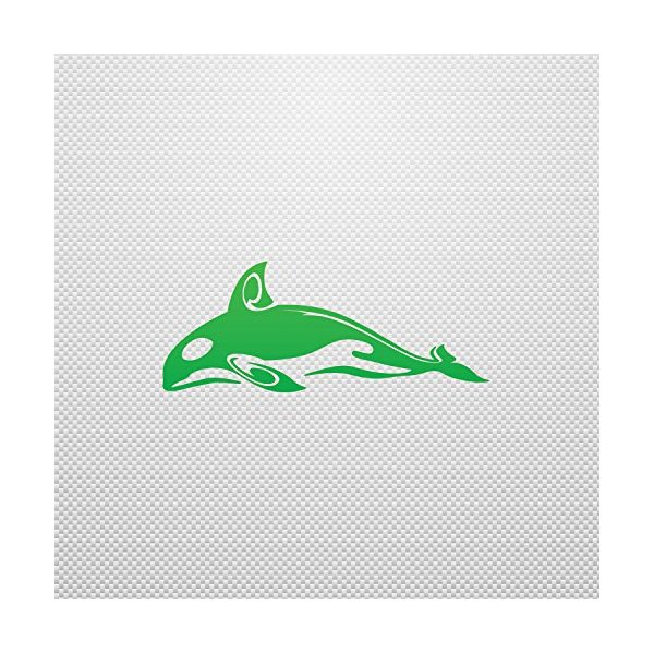 Sticker Killer Whale Orca Weatherproof Sailboats Specialty Stable Bi Green (12 X 4.82 In)