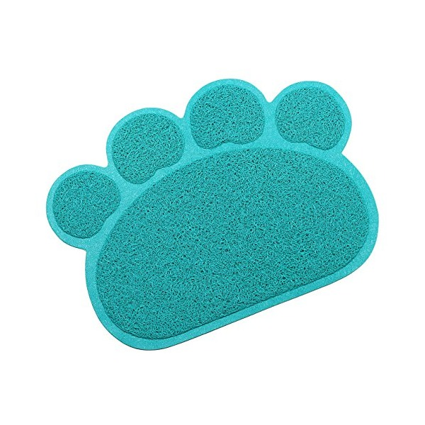 Tera Paw Claw Embossed Style 11.8x15.8 inch PVC Pet Dish Dinner Water Bowl Mat Blanket for Dog Cat Pet