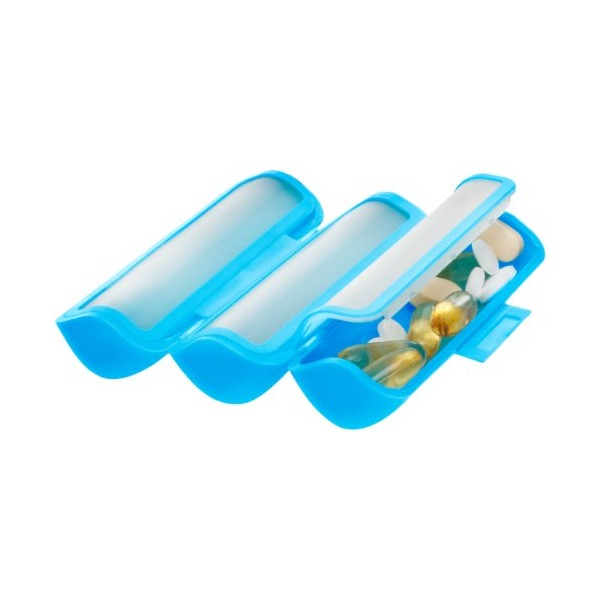 Sabi Tripod roll-up pill box with three large compartments