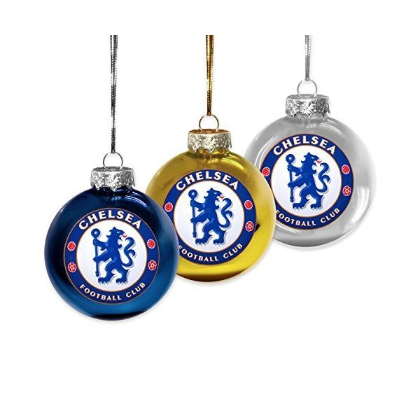 Official Chelsea FC Christmas Holiday Baubles Ornaments