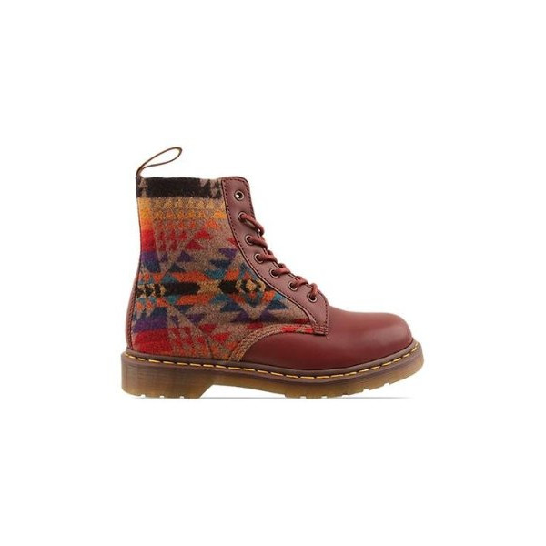 Dr. Martens: Dr. Martens Pendleton Mens in Cherry Red Tan