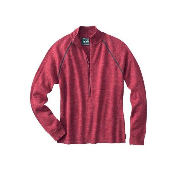 Woolrich Women's Payson Pullover, RUBY HEATHER (Red), Size XXL