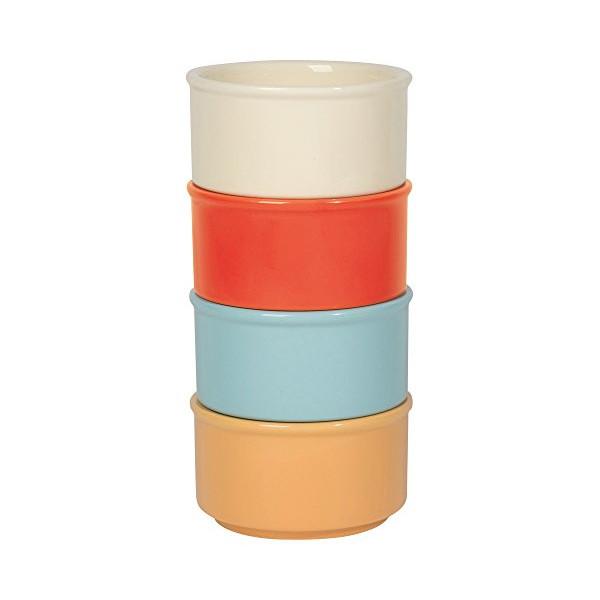 Now Designs Ramekins (Set of 4), Modern Assorted Colors