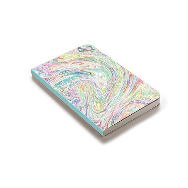 Denik, Ice Cream Swirl by Tyler Spangler, 75 Sheet Softcover Notebook (5.25' x 8.25'), Blank Paper