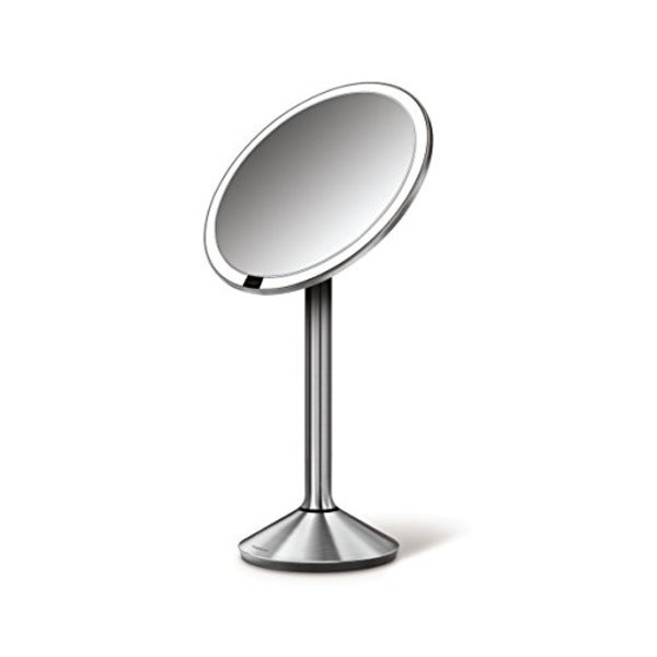 "simplehuman 6.5"" Sensor Sensor-Activated Lighted Vanity Mirror, 7x Magnification"