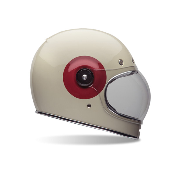 Bell TT Adult Bullitt Sports Racing Motorcycle Helmet, Cream/Red
