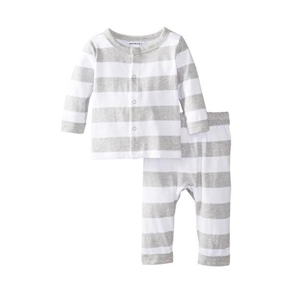 marimekko Baby-Girls Newborn Huili Unisex Pant Set, Grey Combo, 0-3 Months