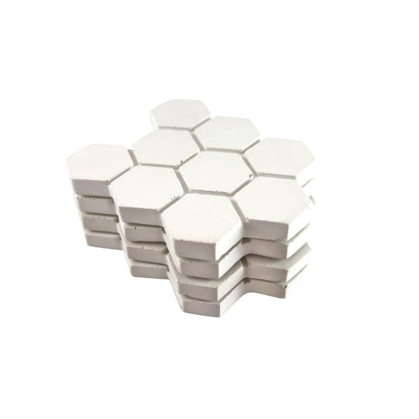 Culinarium - Concrete Hexagon Coaster - white