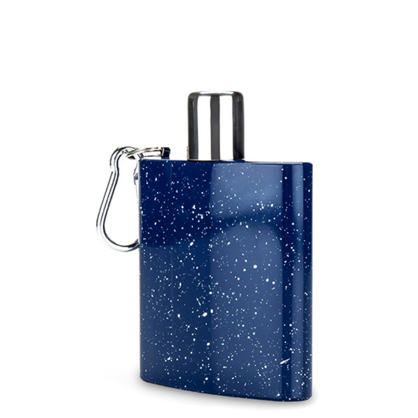 Foster and Rye Enamel Carabiner Flask