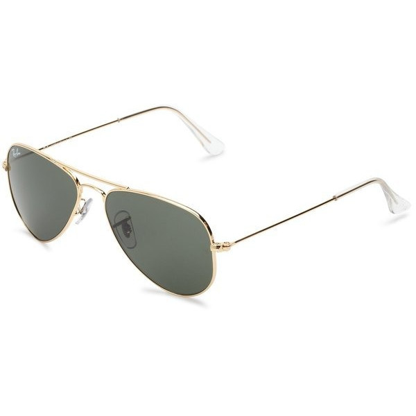 Ray-Ban Aviator Sunglasses, Gold Frame