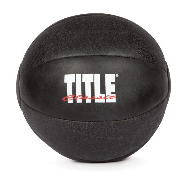 TITLE Classic Leather Max-Grip Medicine Balls