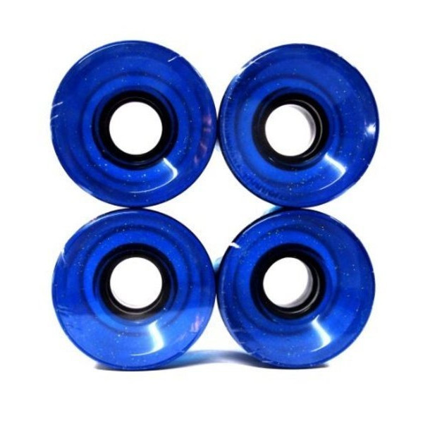 Longboard Skateboard Cruiser Wheels 60x44mm (Clear Blue)