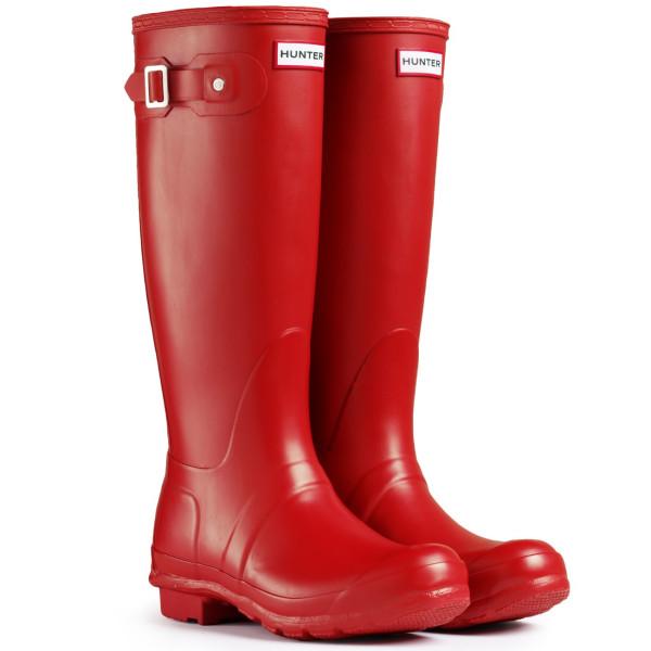 Original Tall Rain Boots, Military Red