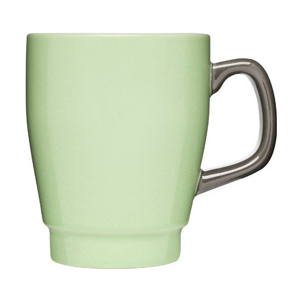 Sagaform POP Stoneware Mug, 11-3/4-Ounce, Spring Green/Brown