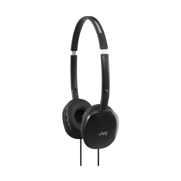 JVC HA-S160-B-E FLATS Lightweight Headphones - Black