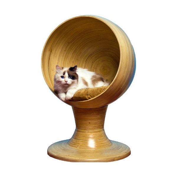 The Refined Feline's Kitty Bamboo Ball Bed