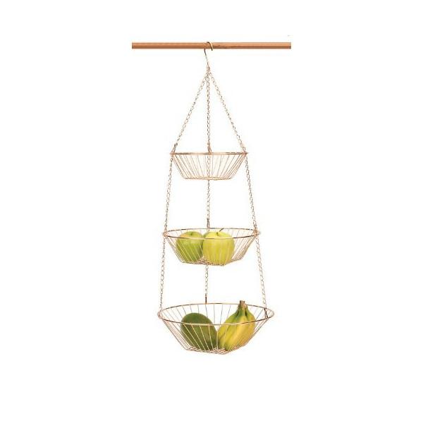 RSVP Endurance 3-Tier 30 Inch Copper Hanging Baskets