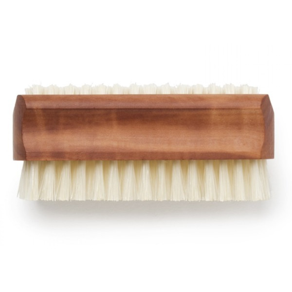 Bürstenhaus Pearwood Nail Brush w/ Boar Bristles, Set of 2