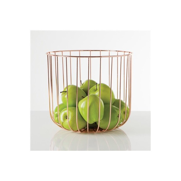Torre and Tagus Symmetry Fruit Bowl Tall - Rose Gold