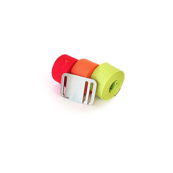 Booyah Belt Women's Mega 3 Belt Combo (Large, Red-Lime-Orange)