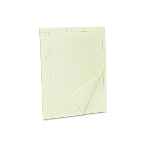 "Ampad Evidence Engineering Pad, 100 Sheets, 5 Squares Per Inch, Green Tint, 8 1/2""H x 11""W"