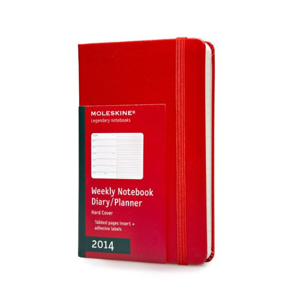Moleskine 2014 Weekly Planner+Notes, 12 Month, Pocket, Red, Hard Cover (3.5 x 5.5) (Planners & Datebooks)