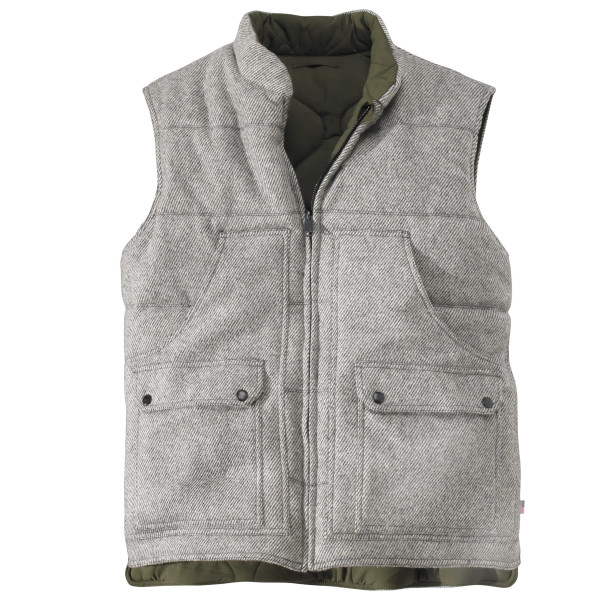 Woolrich Men's Bethlehem Reversible Wool Vest, Gray