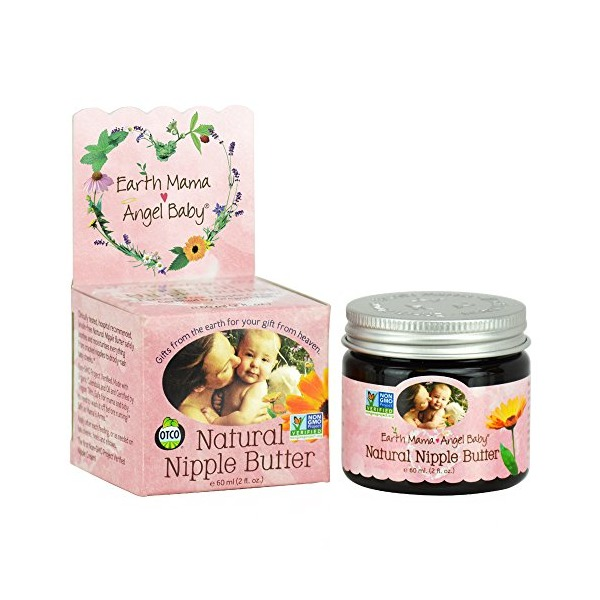 Earth Mama Angel Baby Non GMO Natural Nipple Butter Lanolin Free Nursing Cream 2 Ounce