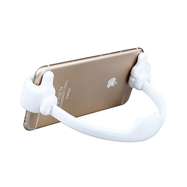 Toch TM Desk Stand for iPhone 4/5/5s/5c/6/6 plus Samsung HTC Nexus Tablet Tab Cartoon Mickey Palm Cellphone Holder Mount Stand White