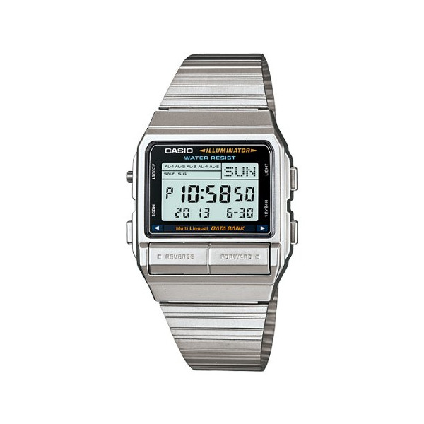Casio Men's Silver Stainless-Steel Quartz Watch