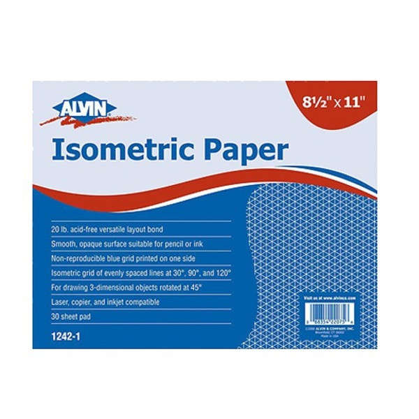 Alvin Isometric Paper 100 Sheet Pack