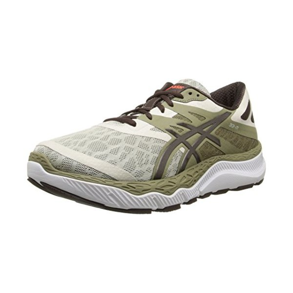 ASICS Men's 33-M Running Shoe, Khaki/Coffee/Orange,11 M US