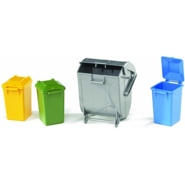 Bruder Trash Bin Set (3 Small, 1 Big)