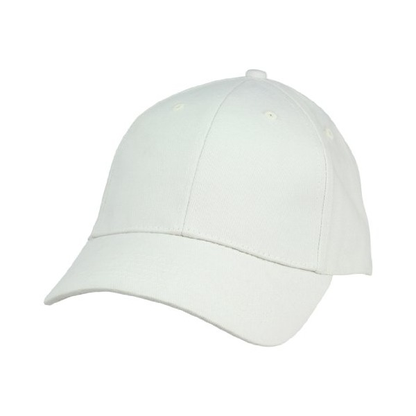 Unisex Hat Hat Fine Brushed Cotton Ball Cap in Ivory Off-White