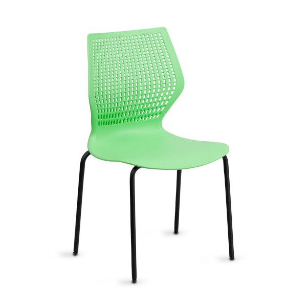 Hercules Series Stack Chair with Black Frame