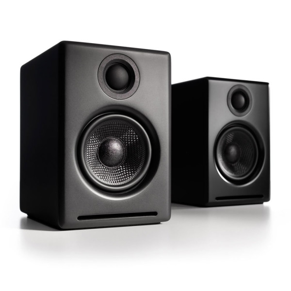 Audioengine A2 Premium Powered Desktop Speakers, Black