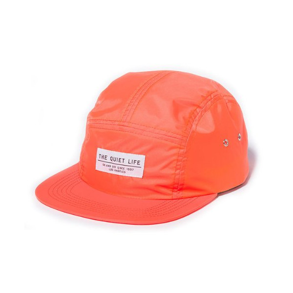 Quiet Life: Nylon 5 Panel Hat, Orange