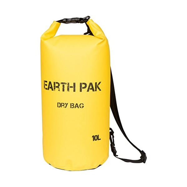 Earth Pak- Waterproof Dry Bag - Roll Top Dry Compression Sack Keeps Gear Dry for Kayaking, Beach, Rafting, Boating, Hiking, Camping and Fishing