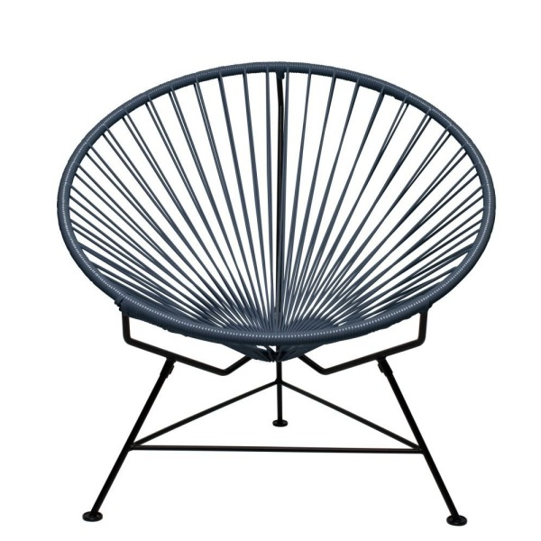 Innit Designs Innit Chair, Grey Weave on Black Frame