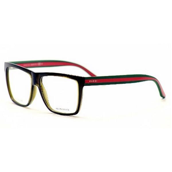 Gucci GG1008 Eyeglasses-053U Brown/Green Red-55mm