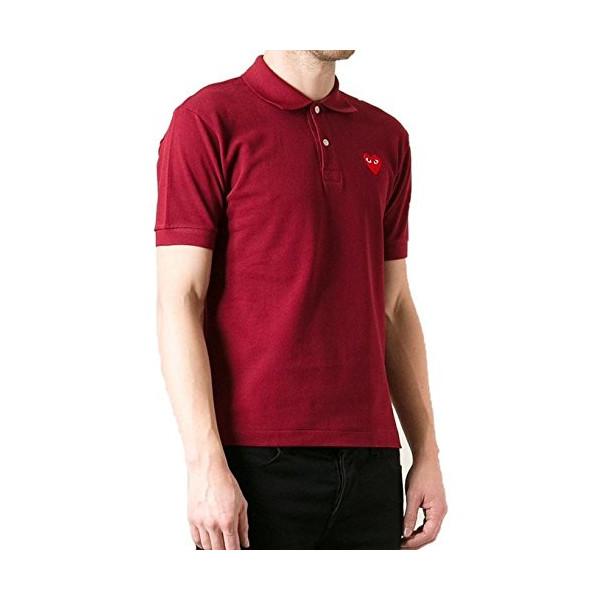 Comme DES Garçons Play Logo Polo Shirt, Red (XL)