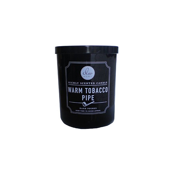 Decoware Richly Scented Warm Tobacco Pipe 2-Wick Candle 14.82 Oz. In Glass