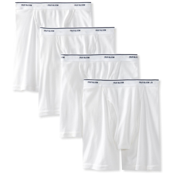 Fruit of the Loom Men's Boxer Briefs 7 Pack, White