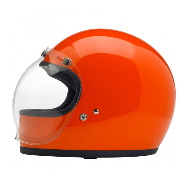 Biltwell Gringo Helmet, Hazard Orange, Medium