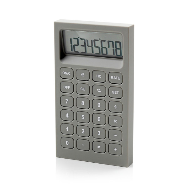 Lexon Buro Desk Accessories, Gray Calculator
