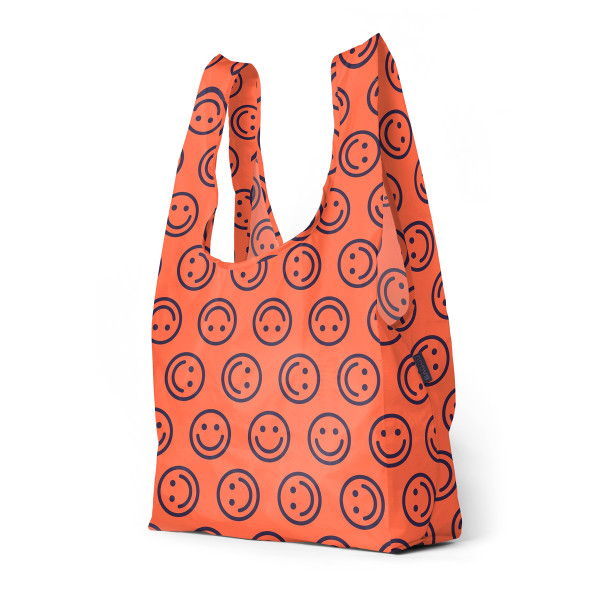 BAGGU Large Reusable Shopping Bag, Electric Happy